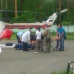 Летчики МЧС России доставили двух детей с ожогами в подмосковные Люберцы